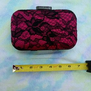 Small Hard Case Lace Clutch